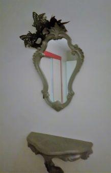 miroir baroque et sa console
