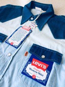 Chemise Levi's rare Made in USA Orange Tab