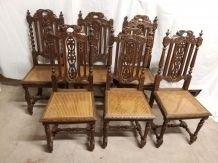 Suite de 6 chaises de la Foret Noire