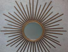 Miroir soleil  Signé Chaty Vallauris A.M