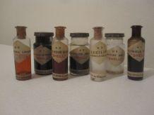 ancienne série  flacon laboratoire pharmacie