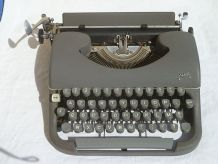 Machine a écrire portative Japy metal gris anthracite 1960