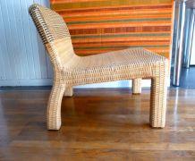 PROTOTYPE de fauteuil en osier et bois DESIGN Thomas Sandell