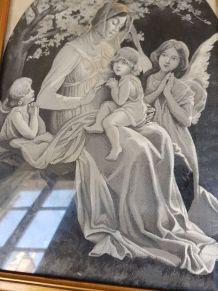image tissée Lyon, Vierge à l'enfant, Sonrel