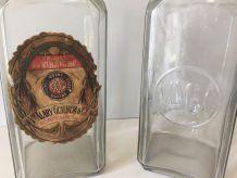 Bocal ancien, verre épais bullé, Victor Alary Guilhem &Cie