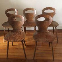 Chaises modèle « Fourmi » éditée par Baumann dans les années