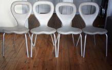 """Set de 4 chaises MOROSO par Marc Newson """"tv"""""""