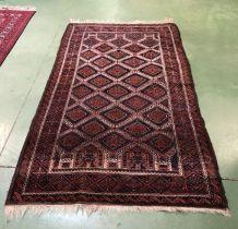 Tapis iranien en laine fait main - 2mx1m20