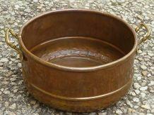 jardiniere, cache-pot en cuivre, ancien