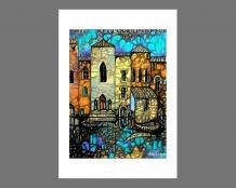 """""""Venise"""" Reproduction de l'œuvre numérique N26 - 24 x 32 cm"""