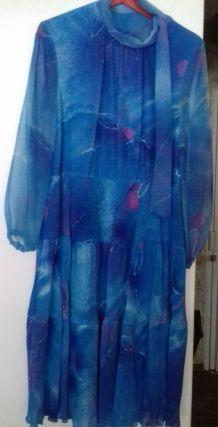 robe bleue marque verena   vintage