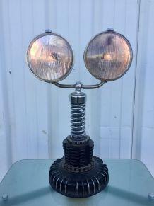 Lampe Phares 2CV authentique  garage Vintage