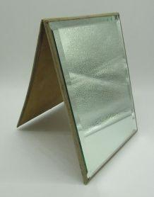 miroir de table biseauté support en carton