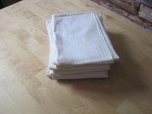 6  grandes serviettes de table en coton ancien