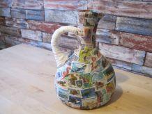 Creation en Vase fait avec bouteille