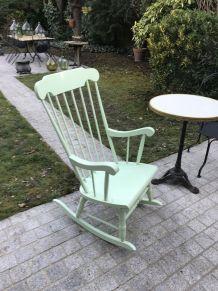 Rocking-chair fauteuil à bascule Stol 1960 vert mint
