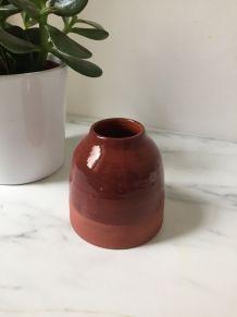 Vase terre cuite et émaillée