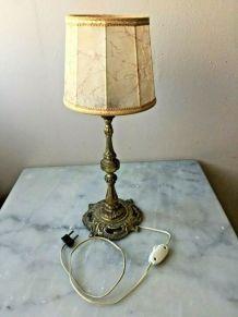 Lampe de chevet en bronze et laiton signé simon