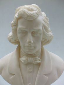 Buste chopin en marbre et poussière d albatre