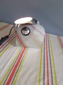 lampe eyeball chromée inclinable à poser ou à fixer