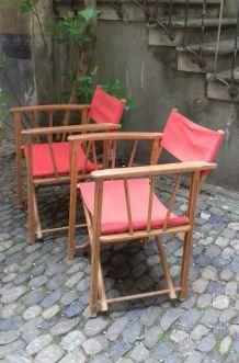 2 fauteuils de jardin vintage