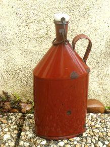 bouteille ancienne en acier émaillé