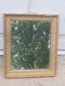 ancien miroir bois et suc doré