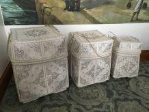 Set de 3 boîtes balinaises