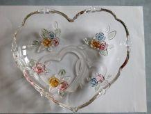 Plat ou coupe en forme de cœur en verre de marque Walther-Gl