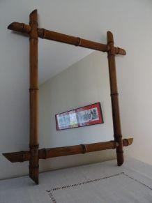 Miroir vintage façon bambou