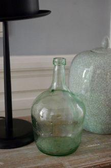 Bonbonne verre vert clair