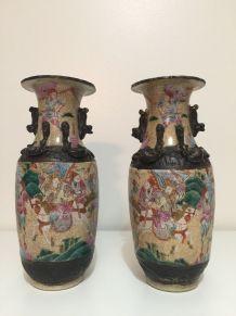 Vase Nankin  chine porcelaine