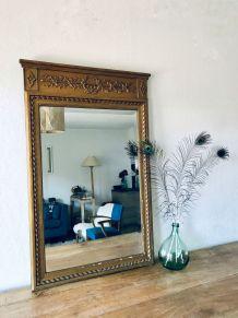 Grand miroir trumeau biseauté, miroir de cheminée