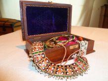 coffret bijoux bois et laiton indien