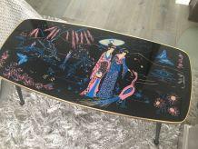 Table basse formica motifs japon