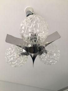 Lustre DLG Max Sauze chrome et 3 globes