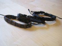 3 Bracelets multicouche fait main Bracelet jonc Simili Cuir