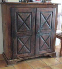 meuble 2 portes confiturier ancien