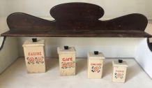 Ensemble de boîtes à épices en bois