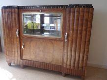 Buffet bar art déco, 1930, plaquage de loupe