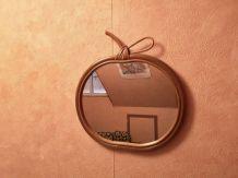 Miroir vintage rotin pomme