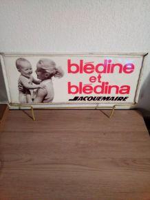 Plaque publicitaire Bledina
