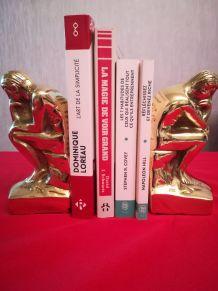 serre livres  ancien en laiton