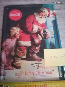 plaque coca cola en tôle signée
