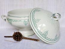 Soupière de table, soupière céramique, soupière décorative.