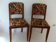 Paire de chaises vintage année 40