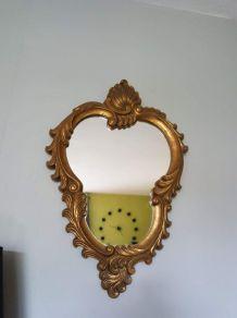 miroir signé Arnova en bois doré style baroque