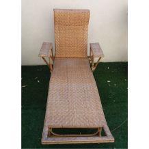transat, chaise longue en rotin des années 30