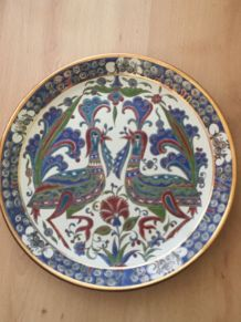 Assiette céramique decorative faite main LINDOS KERAMIK