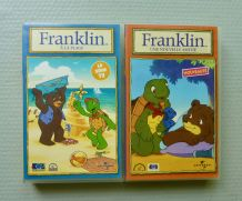"""2 cassettes VHS """"Franklin"""" *A la plage *Une nvelle amitié"""